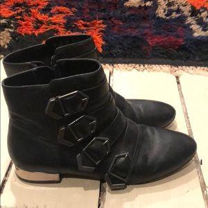 Sam Edelman Nolan black Moto style ankle boots